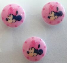 Disney Minnie Mouse Pink Buttons 3 pack 15mm Original Disney Product  Knitting