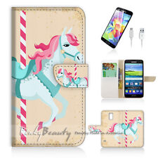 Samsung Galaxy S5 Print Flip Wallet Case Cover! Pony Kids P1430
