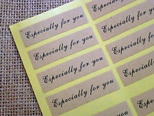 36 Especially for You Labels Stickers, Kraft Paper Wedding Favours Xmas gifts