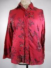 Beautiful Women's PM Coldwater Creek Paisley Flower Fitted Long Sleeve Blouse