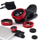 3in1 Fish Eye + Wide Angle Micro Lens Camera Kit for iPhone6 / Plus 5S S5 S3 Red