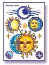 HEAVENLY BODIES Celestial Temporary Tattoos Set Wiccan Pagan T7