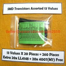 SMD Transistor Assortment Kit 13 Values Each 20pcs Get 40pcs LL4148 4007 M7 Free