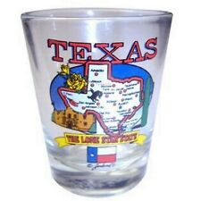 TEXAS STATE ELEMENTS MAP SHOT GLASS SHOTGLASS