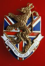 WWII Cartier 1941 US British War Relief Society Pin Brooch BWRS - WW2