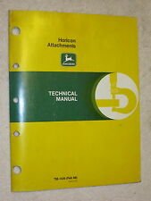 1988 JOHN DEERE HORICON LAWN GARDEN TRACTOR ATTACHMENTS TECHNICAL SERVICE MANUAL