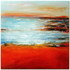 Refleshing Moment - Hand Painted Sea Landscape Oil Painting On Canvas