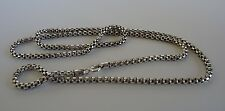 925 STERLING SILVER SOLID MEN'S   CHAIN/  24'' LONG/LOBSTER LOCK/TOP QUALITY