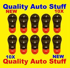 Lot of 10 Aftermarket Remote Replacement Pad 4 Button For Dodge Chrysler Jeep
