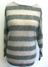 Sparkle & Fade Drop Shoulder Stripe Sweater Size L rrp £38 Box7137 K
