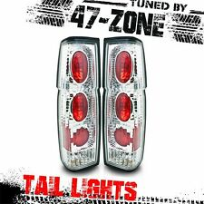 For Nissan Hardbody D21 Pick Up Chrome Housing Clear Lens ABS Tail Lights Lamps
