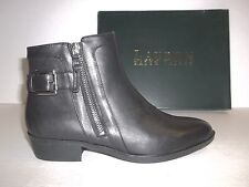 Ralph Lauren Size 9 M SHELLI Black Leather Ankle Boots New Womens Shoes