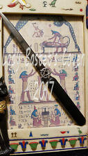 "☽✪☾ Wiccan Pagan 7"" Athame Knife Wand Handcrafted with Pentagram & Velvet Pouch"