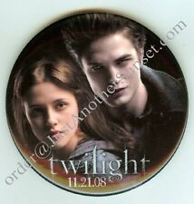 Twilight Edward and Bella Promotional Button Movie Rare HTF