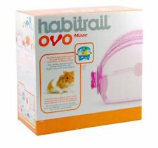 HABITRAIL OVO MAZE PINK ADD ON WITH CHEWABLE CARDBOARD MAZE INSERT