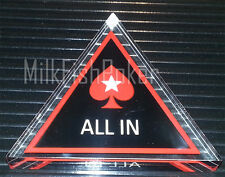 PokerStars Acrylic All In Triangle Button - BRAND NEW!
