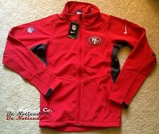 Nike Men's San Francisco 49ers Football Sphere Hybrid Jacket S Red Full Zip New