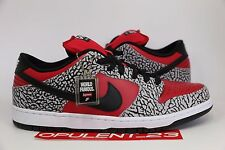 DS 2012 NIKE DUNK LOW PREMIUM SB SUPREME FIRE RED CEMENT 313170 600 SIZE 12