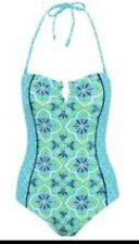 GEORGE TILE PRINT STRAPLESS BANDEAU SWIMMING COSTUME / SWIMSUIT SIZE 14 BNWT