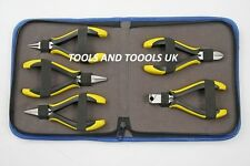 5 PIECE ERGONOMIC PLIERS SET/ KIT BEAD WIRE WORK JEWELRY ART CRAFTS HOBBY TOOL