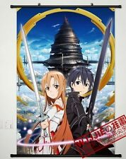 Anime Japanese Cosplay Sword Art Online wall poster scroll Kirigaya home decor