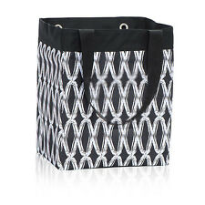 Thirty One Essential Tote Shopping Bag Black Links Beach Grocery Laundry Storage