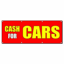 CASH FOR CARS CAR BODY SHOP REPAIR Business Sign Banner 4' x 2' w/ 4 Grommets