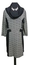 CAROLINE MORGAN Dress Jumper Dress Size 18 Black & White Winter L39in