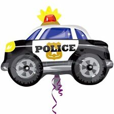 "4 POLICE CAR 24"" BALLOONS DECORATIONS EMERGENCY BUS RESCUERS HELIUM FOIL"