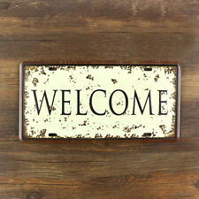Welcome Metal Sign Tin Plate - 30x15cm