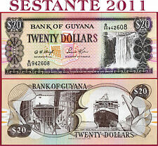 GUYANA -  20 DOLLARS ND 1996 -  P 30c - Sign 12 Governor Ag -  FDS / UNC
