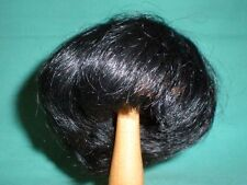 "doll wig/ human hair 8.5"" to 10"" black, short/Global Dolls/EHP. 22/25 schw. kurz"