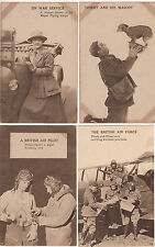 "WW1 Great Britain group of 9 propaganda postcards ""Not For Sale"" stamped at back"