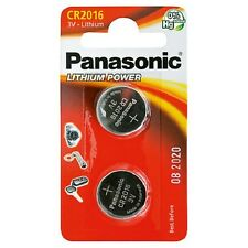PANASONIC CR2016 / DL2016 3V Lithium Battery Pack of 2