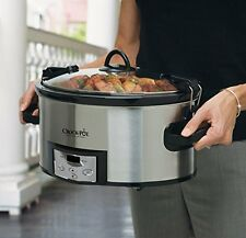 Crock-Pot Programmable Slow Cooker 6 Quart Countdown Digital Timer Kitchen Cook