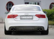 Rieger Heckeinsatz im Carbon-Look für Audi A5/ S5 B8 Coupe/ Cabrio ab Facelift