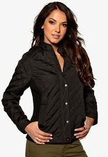 Happy Holly Quilted Jacket - Black - Euro 36/38 - UK Size 8/10 - Box6501 B