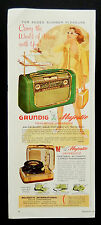 Vintage 1957 Grundig Majestic Portable Radio Phonograph advertisement print ad