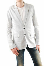 Kris Van Assche Men's New Lightweight Blazer Grey Stripes Size 40 BCF511