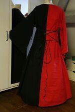 Mittelalter Kleid Gewand LARP rot schwarz Gr. 50 52 54 Gothic XXXL