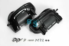 Glossy Black Lower vented Fairing + CNC Mounting Brackets Fit Harley Davidson