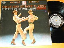 """STEREO SPANISH LP - JOSE GRECO - COLUMBIA MS 6265 - """"SPANISH SONGS AND DANCES"""""""
