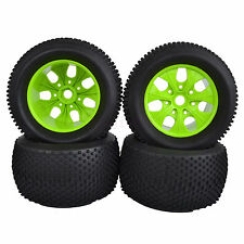 140mm RC 1:8 Monster Truck Bigfoot Tires & Wheel Rim 17mm HEX Hub Green HSP 997G
