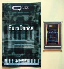 Alesis EuroDance QCard with Booklet, Case, LIFETIME Warranty! QS Card Rare