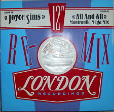 LP Joyce Sims All And All (Mantronik Mega Mix) Vinyl Single 12inch NEAR MINT