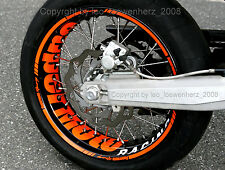 Wheel Rim Sticker Supermoto Honda FMX 650 CRF CR 450 Kawasaki KXF KLR KLX 650