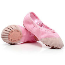 Ballet Dance Gymnastics Leather Canvas Shoes Split Sole Children's Adult's Size