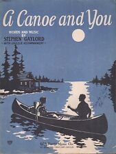 PORTLAND, OREGON jazz song A CANOE AND YOU by Stephen Gaylord UKULELE 1928