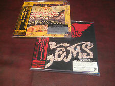 AEROSMITH GEMS & PANDORA'S TOYS JAPAN REPLICA 2004 TITLES W/ORIGINAL STICKER SET