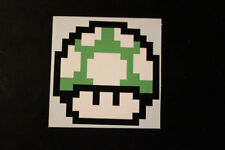 8 Bit Green 1 Up Mushroom Sticker Decal